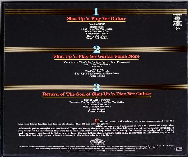 "FRANK ZAPPA SHUT UP 'N PLAY YER GUITAR 3LP BOX-SET 12"" VINYL"