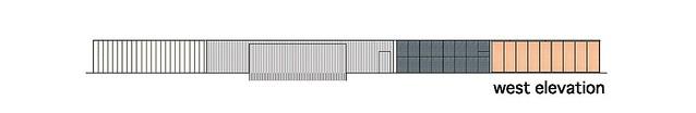 Photo:aat + Makoto Yokomizo - 富弘美術館 Tomihiro Art Museum - Drawings 09 - 西向立面圖 West Elevation By 準建築人手札網站 Forgemind ArchiMedia