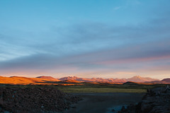 Sunset over the altiplano