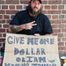 GIVE ME ONE DOLLAR OR I AM VOTING TRUMP by Tim Pierce