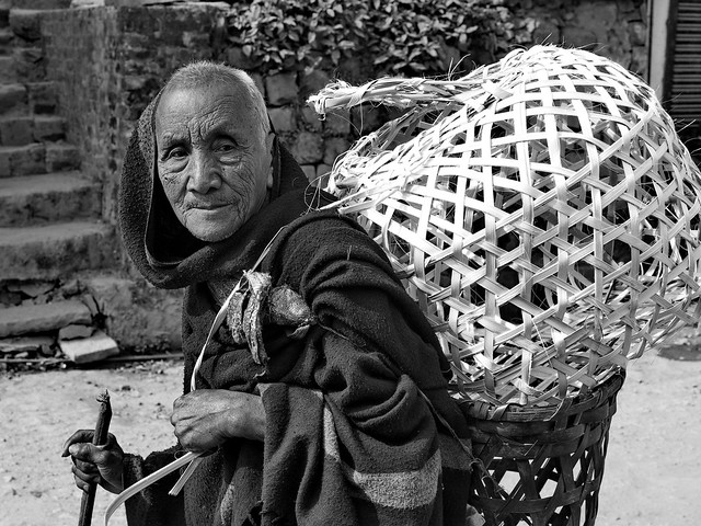 Kohima - Man with basket