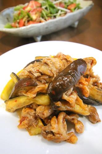 【レシピあり】 ナスと豚肉の豆板醤炒め