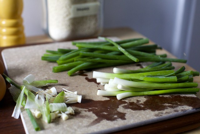 trimmed scallions