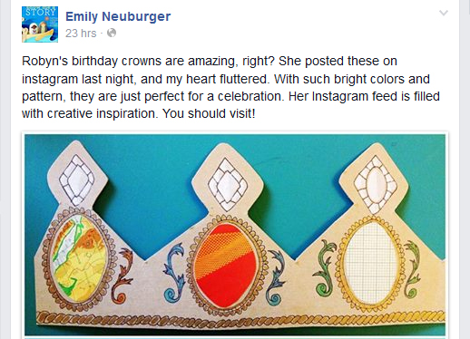 Emily Neuburger facebook birthday crown