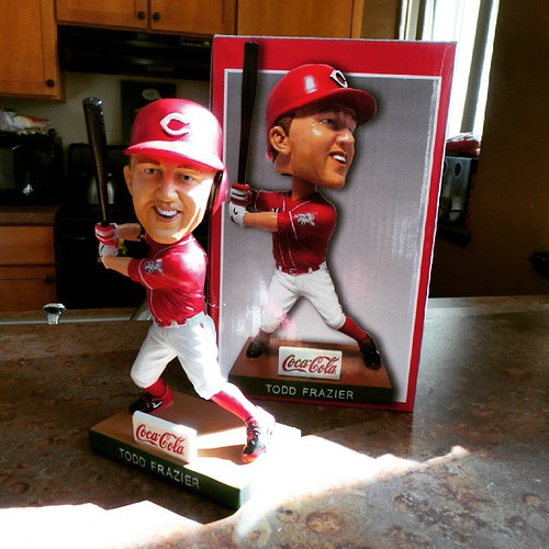 Our #Reds Todd Frazier bobblehead. #toddfather