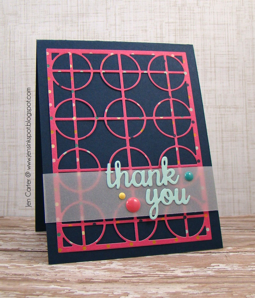Jen Carter Frantic Stamper Circle Thank You