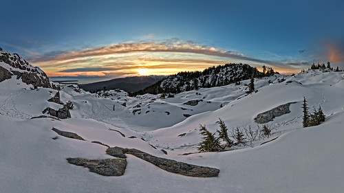 Sunset over Seymour Mountain.  Fine Art Photography by Daniel Burdett