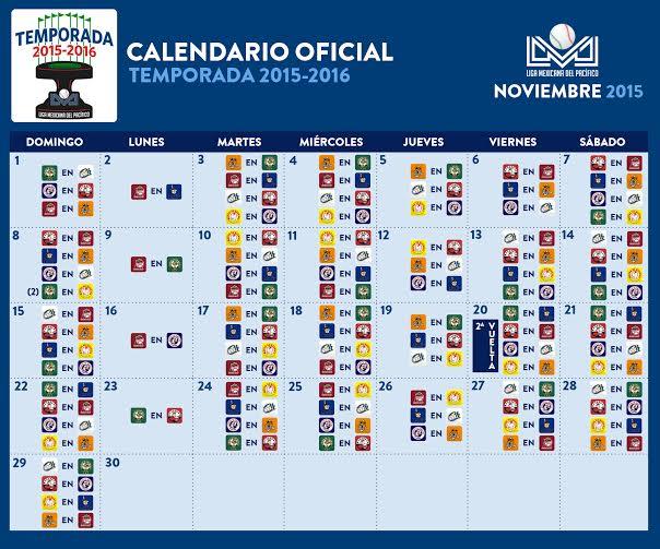 El calendario de juegos del rol regular 2015-2016 queda entonces de la ...