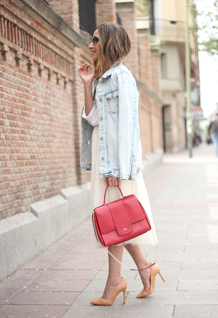 Tulle Skirt Denim Jacket12