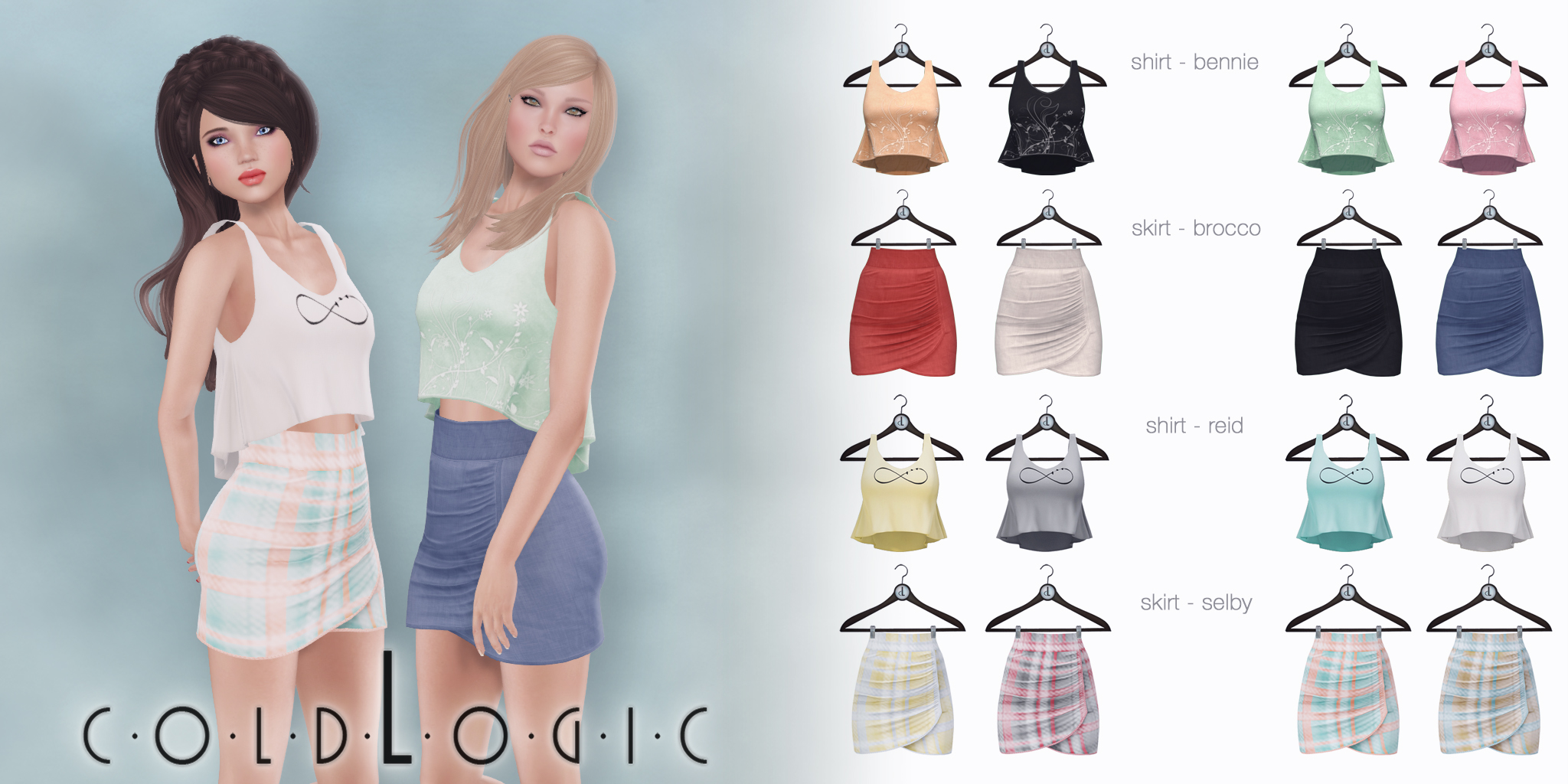 coldLogic - wrapped pencil skirts & tank tops