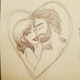 #skatch #illustration #drawing  #woman #man #love #passion #lovesintheair
