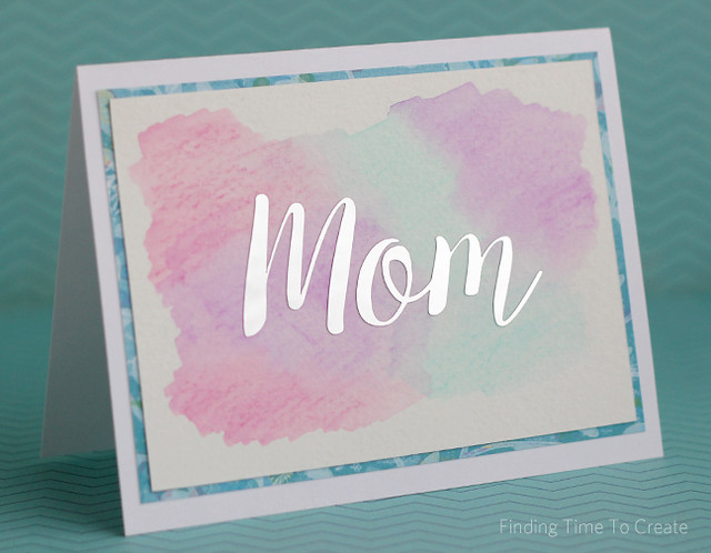 Mothers Day Card with Foil and Watercolor by Kelly Wayment