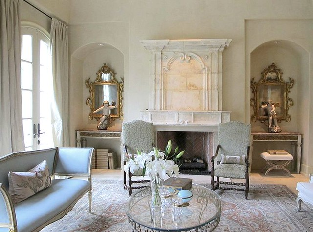 A Light Furniture Arrangement With Two Chairs Flanking The Fireplace Room On My Living