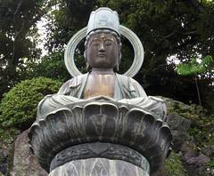 Bronze statue of Buddha, Naritasan Shinshoji Temple, Narita, Japan, July 2014