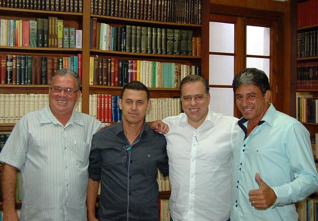 22 07 2016 - Lassance - Carlito, Pres.Câmara Rubém, Paulo Abi-Ackel e Alvimar Rogério