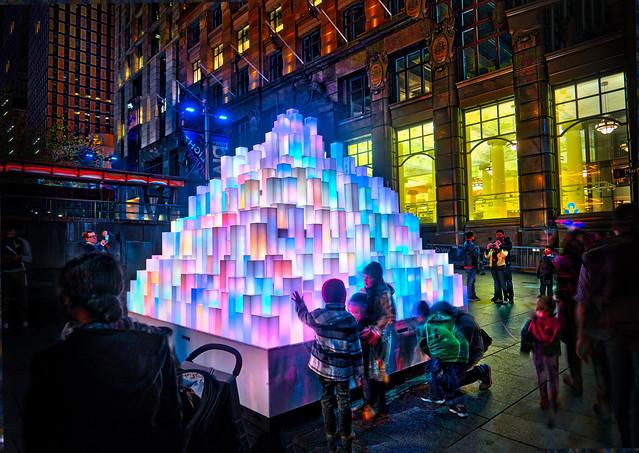 A Pyramid At Vivid Sydney