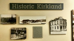 #TBT at LWTech! Our West Building's third floor portrays Kirkland's history with over 21 wall images. View the Kirkland waterfront in 1890, downtown K-land, and the Kirkland State Bank. #kirkland #history #thelwtech