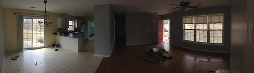 Dining/Living Room Before