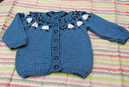 Welcome to the Flock baby cardigan