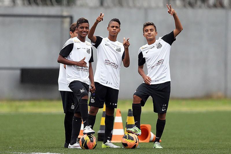 Rodrygo Goes, Victor Yan e Lucas Lourenço