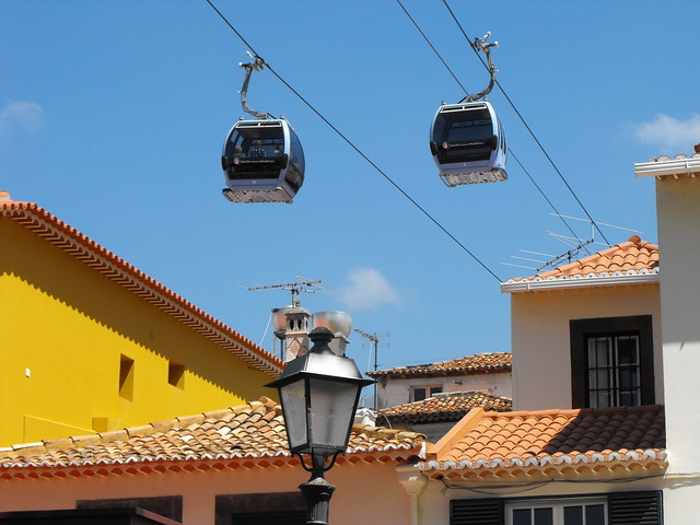 Cable cars in the old town