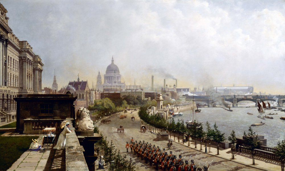 The Embankment by John O'Connor, 1874