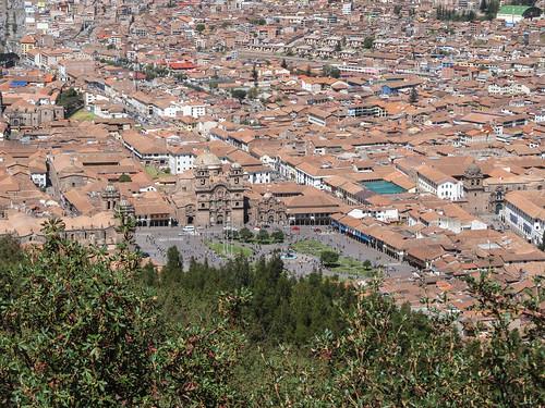 Sacsayhuaman: vue sur la Plaza de Armas