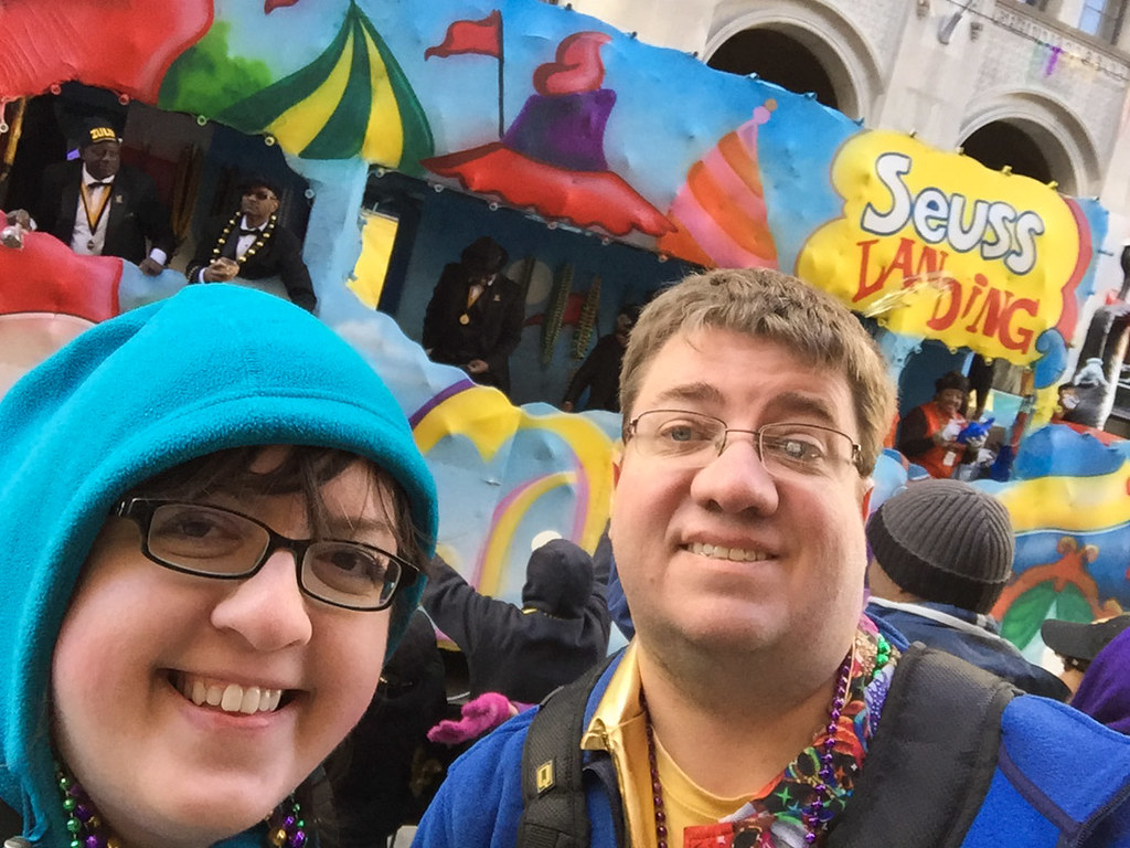 Ken and I at Krewe of Zulu | Mardi Gras 2016