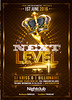 Gold Party Next Level Flyer Template