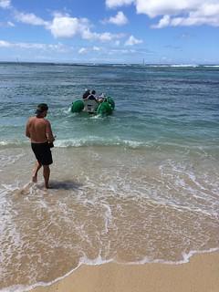 Image of Waikiki Beach near Honolulu. waikiki aquacycle hawaii oahu 2016