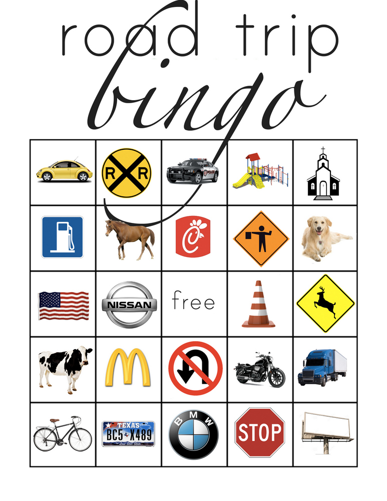Printable Road Trip Bingo for Kids