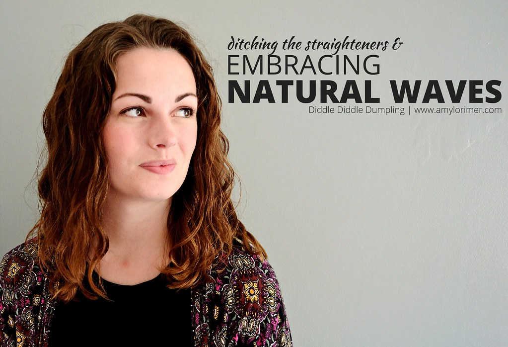 Ditching the straighteners and embracing natural waves. The curly girl method for wavy hair.