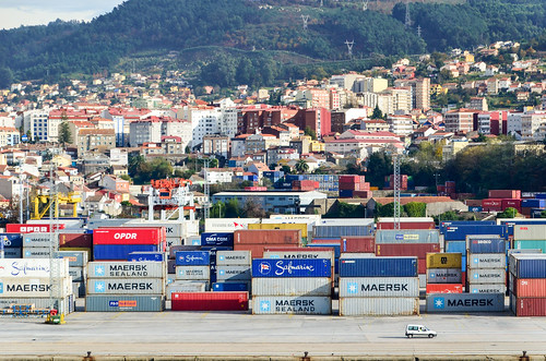 Containers in the port of Vigo