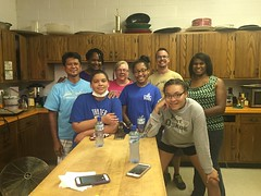 Helping clean a Soup Kitchen