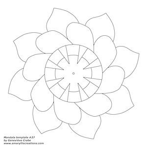 Mandala template 27