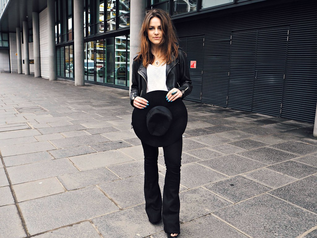 Victoria Beckham black flares The Little Magpie 11