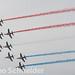 Kampfjets über Ouistreham