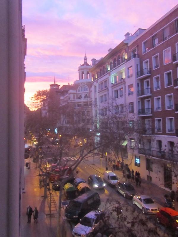 La tarde de la luz rosada