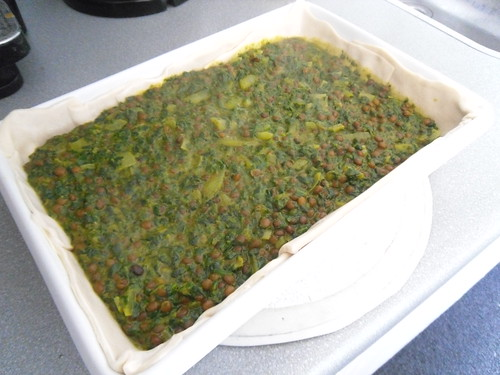 Add spinach mixture