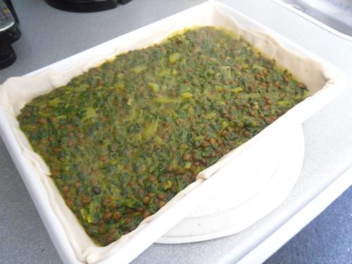 Add spinach mixture