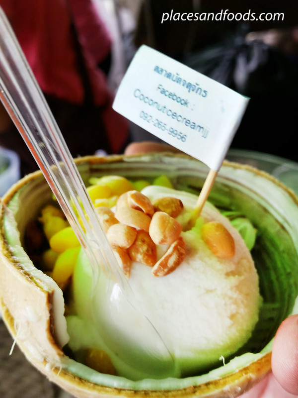 chatuchak jj coconut ice cream with facebook