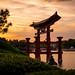 Epcot - Japanese Sunset by Cory Disbrow