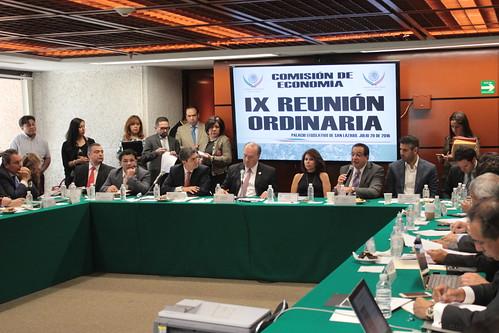 El día 20 de julio del 2016 se llevó a cabo en la H. Cámara de Diputados la IX reunión de la Comisión de Economía.