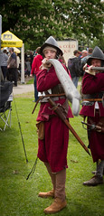 English Civil War pikeman reenactor at the Wallingford Car Rally