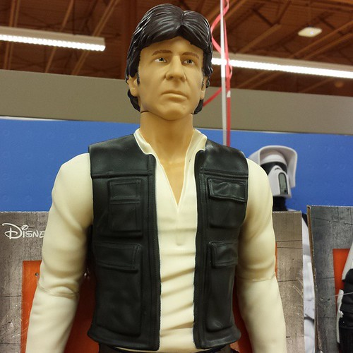 OK, who does this Han Solo figurine resemble? 'Cause it ain't Harrison Ford. #StarWars