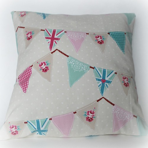 Brit bunting cushion
