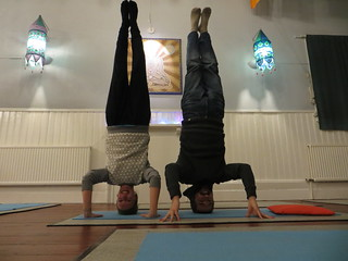 old friends headstand