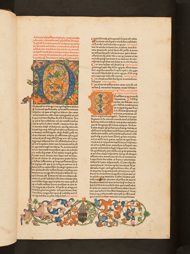 Decorated page in Hieronymus: Epistolae