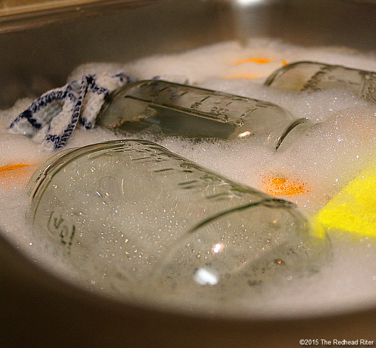 citrus peels in the dishwater