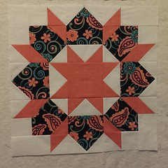 Halfway done 😊 #swoonquilt #swoonalong #swoonalong2015 #thimbleblossoms #alyof